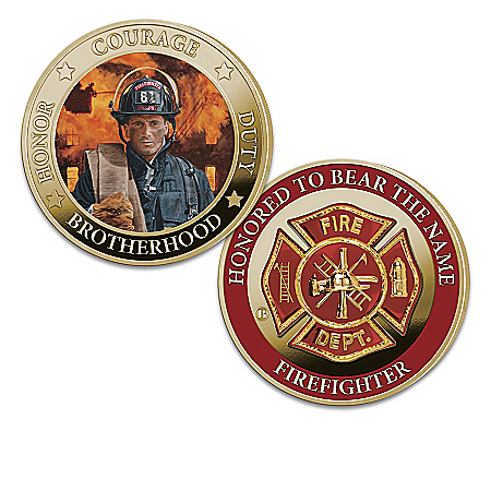Firefighter Tribute 24K Gold Plated Proof Coin Collection with Glen Green Art