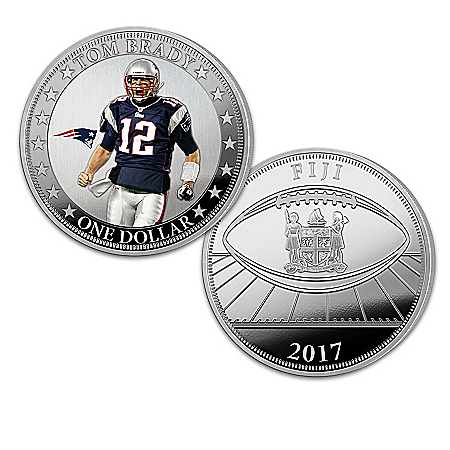 The Tom Brady NFL Legacy Legal Tender Silver Dollar Coin Collection