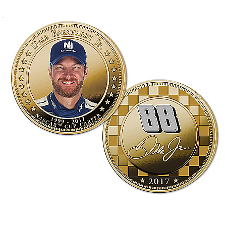 Dale Earnhardt Jr NASCAR Licensed Legacy Proof Coin Collection: 1 of 2017