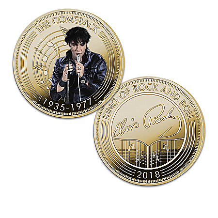 Elvis Presley 24K Gold Plated Commemorative Proof Coin Collection: 1 of 2000