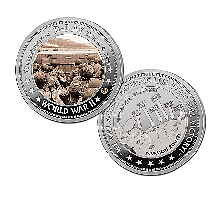 The 75th Anniversary Of D-Day Silver-Plated Proof Coin Collection