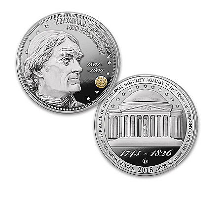 The President Thomas Jefferson 275th Anniversary Legacy Silver-Plated Proof Coin Collection