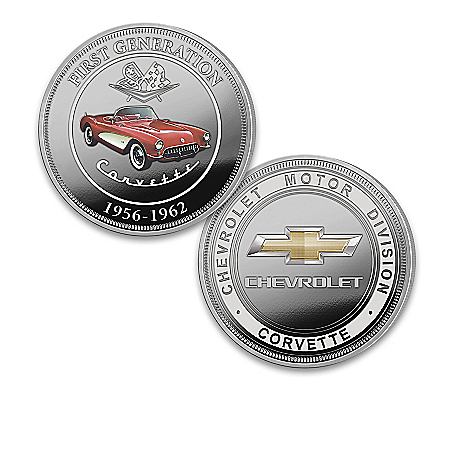 Chevrolet Corvette Proof Coin Collection With Display