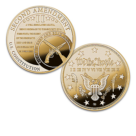 The U.S. Constitution 24K Gold-Plated Proof Coin Collection