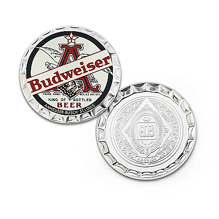 The Official Budweiser Silver-Plated Proof Coin Collection