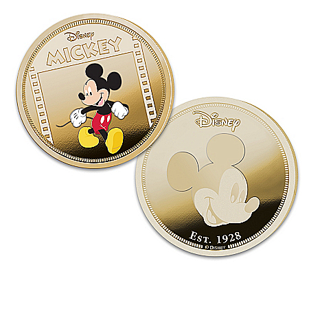 Disney Mickey Mouse 24K Gold-Plated 90th Anniversary