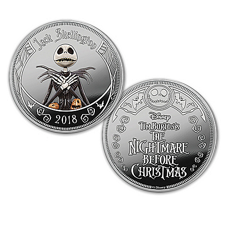 Disney Tim Burton's The Nightmare Before Christmas Silver-Plated Proof Collection