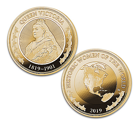 The History's Greatest Women 24K-Gold Plated Proof Coin Collection