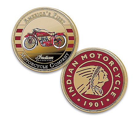 Indian Motorcycle 24K Gold-Plated Proof Coin Collection