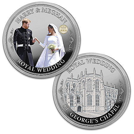 The Prince Harry And Meghan Markle Silver-Plated Proof Coin Collection