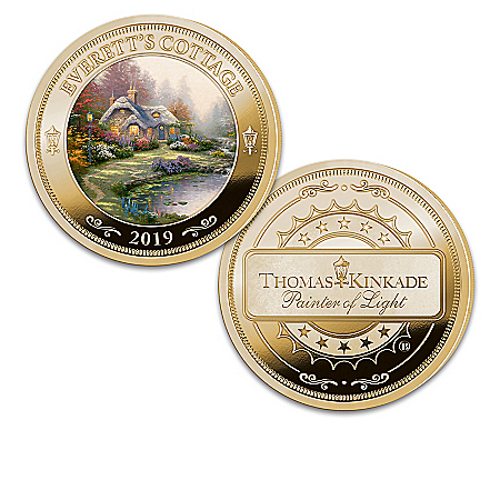 The First-Ever Thomas Kinkade 24K Gold-Plated Proof Coin Collection