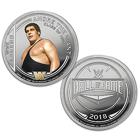 The WWE Hall Of Fame Silver-Plated Proof Coin Collection