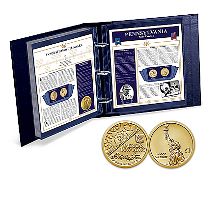 The American Innovation Dollar Coin Collection With Album