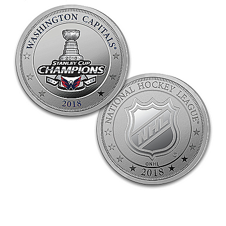 NHL Licensed Washington Capitals Silver Plated Proof Coin Collection: 1 of 2018