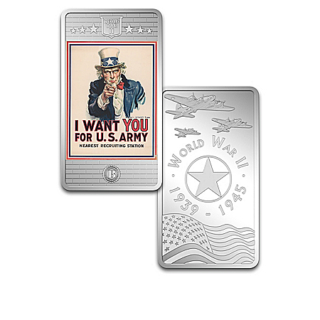 The World War II Poster Silver-Plated Ingot Collection