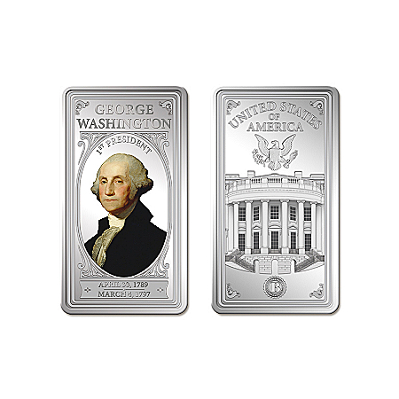 U.S. Presidents Ingot Collection With Deluxe Display Box