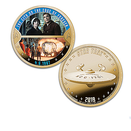 The STAR TREK Episodes 24K Gold-Plated Proof Coin Collection
