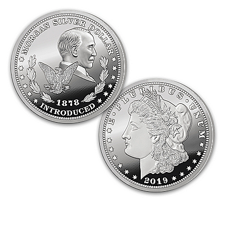 Morgan Silver Dollar U.S. History Proof Coins With Display