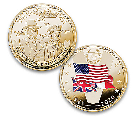 WW II 75th Anniversary 24K Gold-Plated Proof Coin Collection