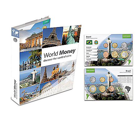 World Coin Collection With Free Album and Travel Book
