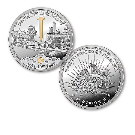 150th Anniversary Transcontinental Railroad Proof Coins