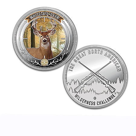Big Game Sport Hunting Silver-Plated Proof Coin Collection