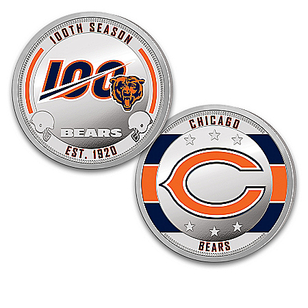 Chicago Bears 100th Anniversary Proof Coin Collection