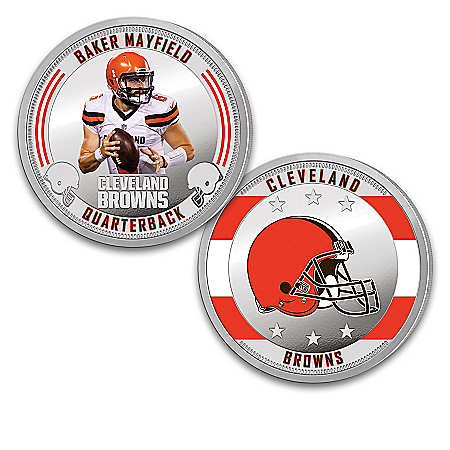 The Cleveland Browns 99.9% Silver-Plated NFL Proof Coin Collection