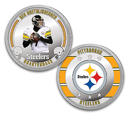 Pittsburgh Steelers Proof Coin Collection With Display