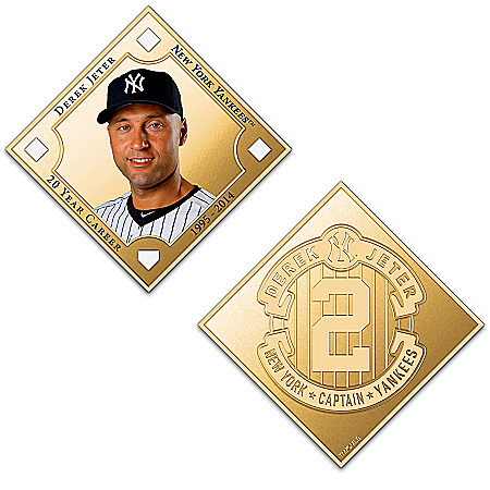 Derek Jeter Commemorative 24K Gold-Plated Tributes