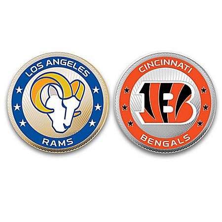 The Complete NFL Challenge Coin Collection With Display Case