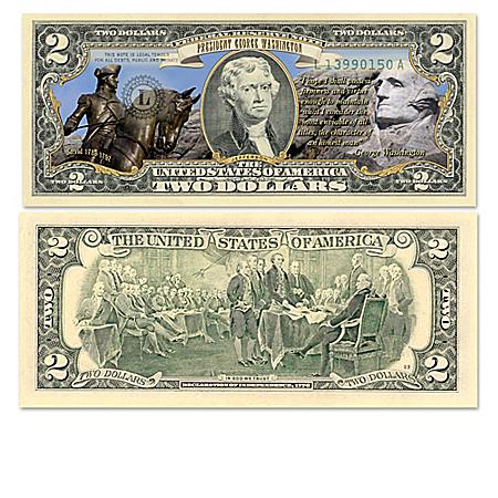 U.S.  Bills Honoring Historic Presidents With Display Box
