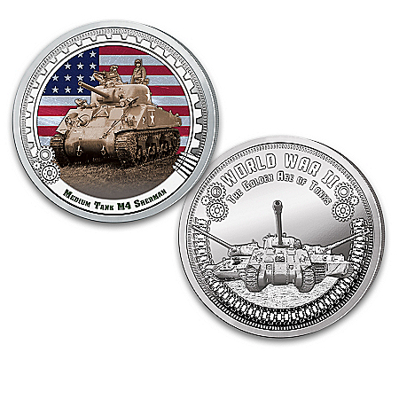 The World War II Golden Age Of Tanks Proof Coin Collection