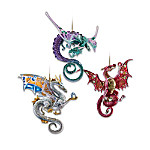 Dragons Of The Crystal Cave Christmas Ornament Collection
