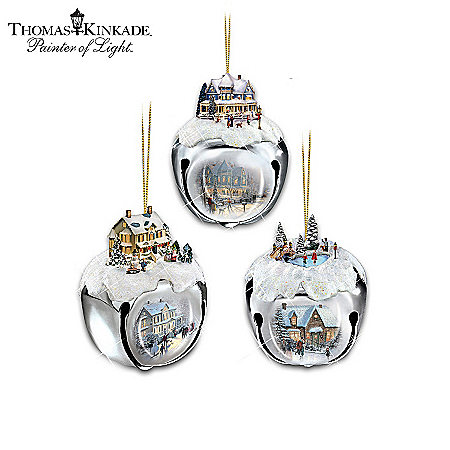 Thomas Kinkade Sleigh Bells Christmas Tree Ornaments Collection