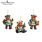 Christmas Ornament Thomas Kinkade Teddy Bear Christmas Ornament Collection