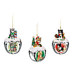 Purr-fect Holiday Sleigh Bells Kitten Ornaments