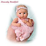 Heavenly Handfuls Dancing For The Cause Breast Cancer Support Baby Doll Collection