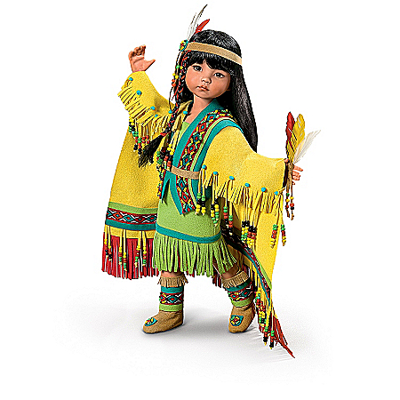 Native American Collectibles Native American-Inspired Ball-Jointed Doll Collection: Little Dancing Moccasins