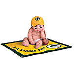 Officially Licensed By NFL Properties LLC - Green Bay Packers #1 Fan Lifelike Baby Doll Collection
