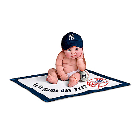 MLB New York Yankees #1 Fan Commemorative Baby Doll Collection