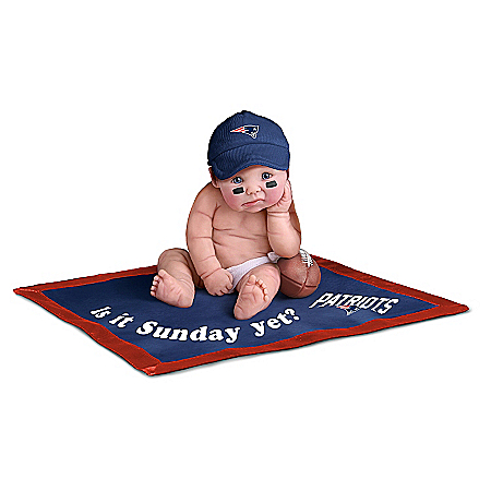 NFL New England Patriots #1 Fan Baby Doll Collection