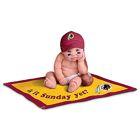 NFL Washington Redskins #1 Fan Commemorative Baby Doll Collection