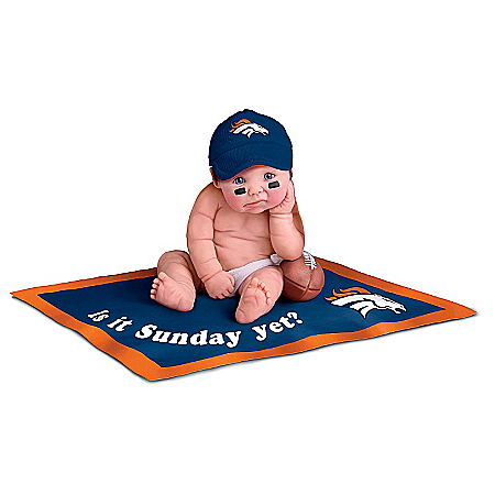 NFL Denver Broncos #1 Fan Commemorative Baby Doll Collection