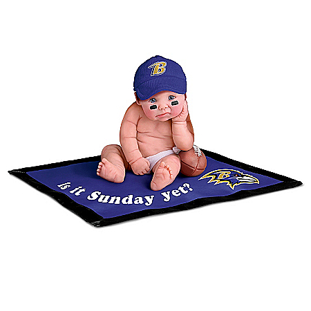 NFL Baltimore Ravens #1 Fan Commemorative Baby Doll Collection