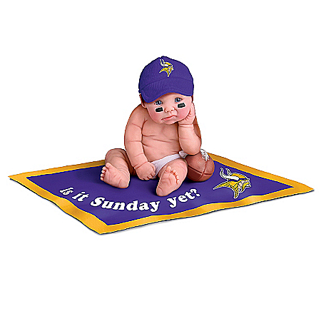Minnesota Vikings #1 Fan Commemorative Baby Doll Collection