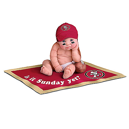 NFL San Francisco 49ers #1 Fan Commemorative Baby Doll Collection