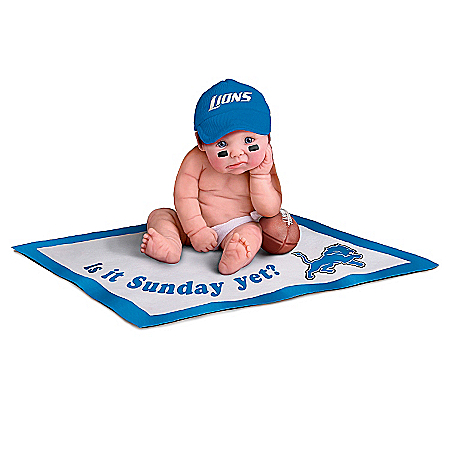 Detroit Lions #1 Fan Commemorative Baby Doll Collection