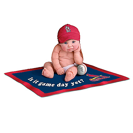 MLB St. Louis Cardinals #1 Fan Commemorative Baby Doll Collection