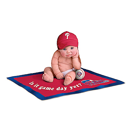 MLB Commemorative Baby Doll Collection: Philadelphia Phillies #1 Fan